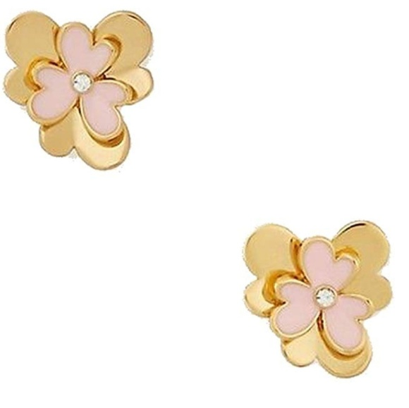 Kate Spade ♠️ Rare Pink Pansy Blossom Earrings